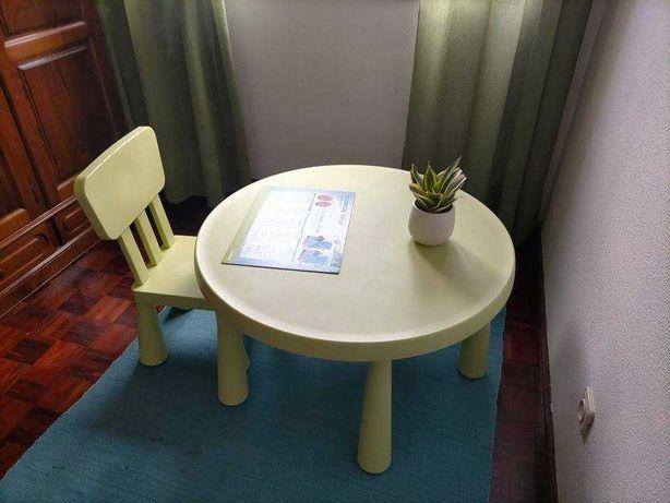 Conjunto Mesa e Cadeira Infantil MAMMUT IKEA
