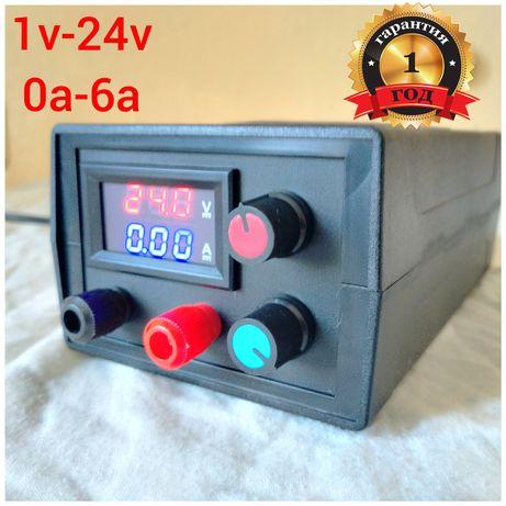 Лабораторный блок питания Регулируемый от 1v-24v и от 0a-5a Зарядное