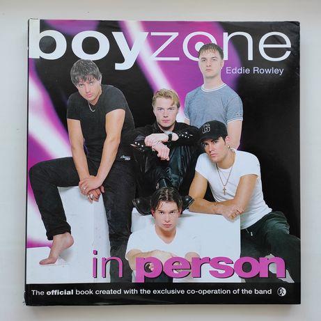 Официальный книга-фотоальбом группы 'boyzone in person'. На английском