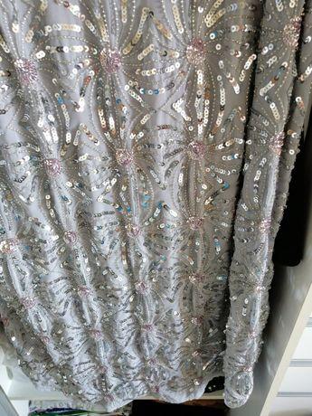 Sukienka srebrna cekiny
