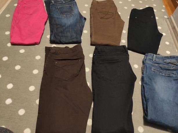 7 par spodni r.M dżinsy, spodnie materiałowe