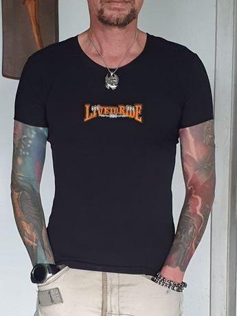 """Koszulka motocyklowa """" Live to Ride """" męska"""