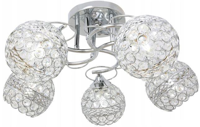 LAMPA LED sufitowa ŻYRANDOL plafon LED kryształ