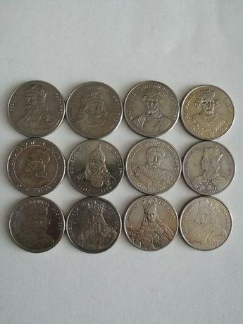 zestaw 12 monet poczet króli Polski ładne