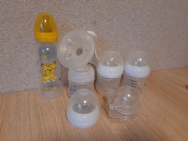 Молокоотсос  Philips AVENT с набором бутылочек