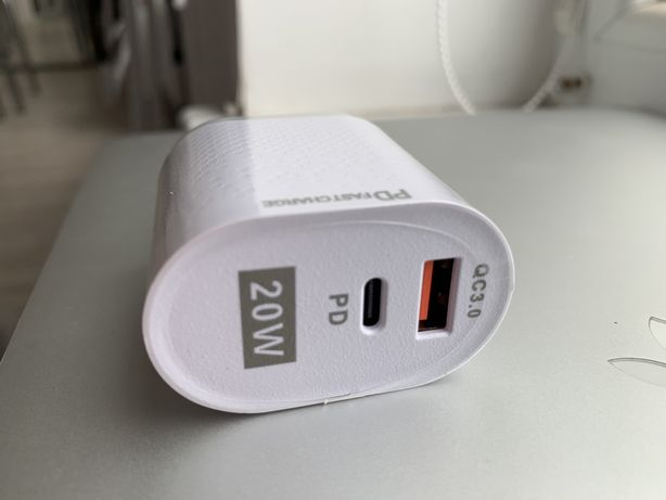 Быстрая зарядка USB Tupe c iPhone 8 X XS XR 11 12 Apple 20W Lightning
