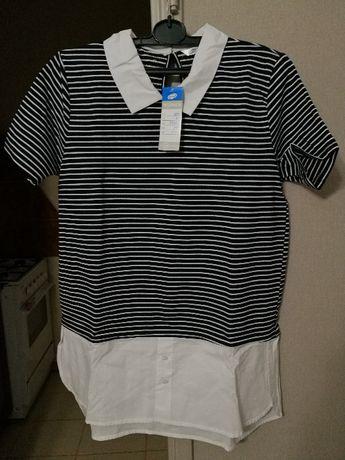 Bluzka z pepco krótki rękaw koszula paski