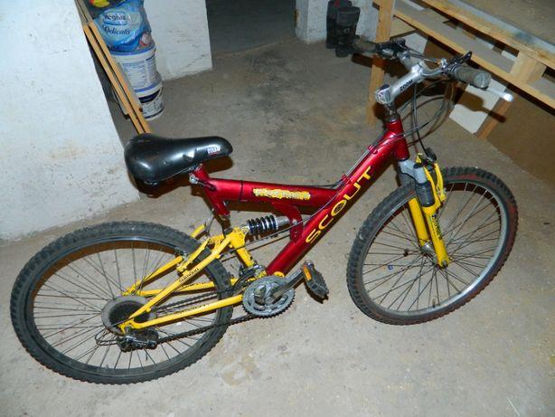Rower górski z dwoma amortyzatorami