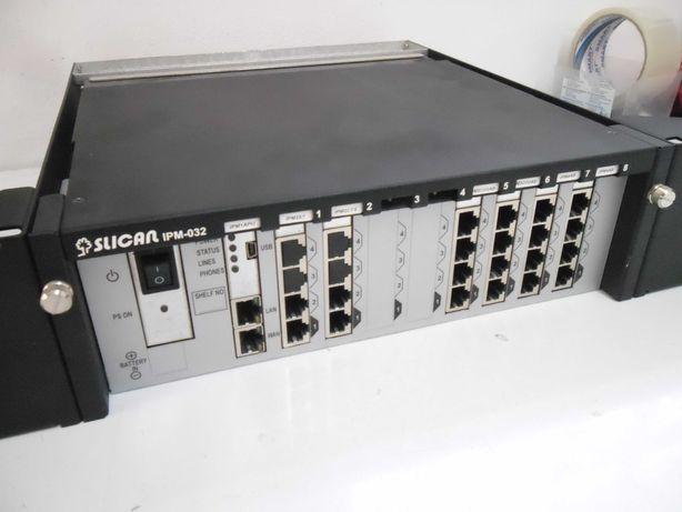 Centrala telefoniczna Slican IPM-032 + 6 kart do szafy rack