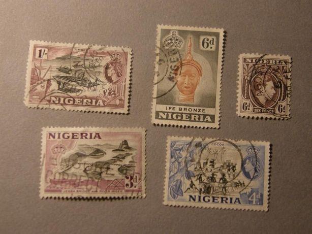 Колониальная Нигерия 1950-60х гг. Редкая Английская серия марок