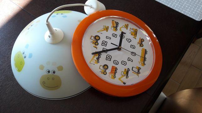 Lampa i zegar do pokoju dziecięcego
