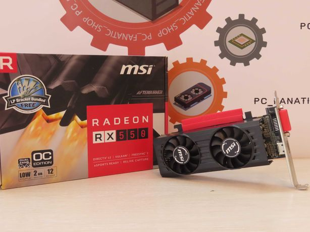 MSI RX 550 2G Low Profile/PC_fanatics_shop/Гарантія