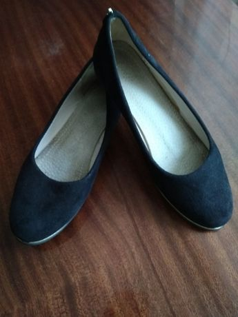 Замшевые туфли на узкую ногу