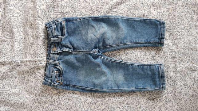 Jeansy spodnie 80/86