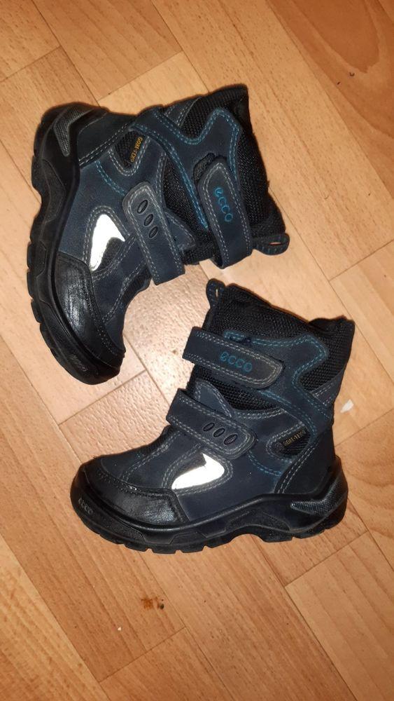 БРОНЬФирменные зимние термо ботинки сапоги Ecco gore-tex оригинал р 25 Киев - изображение 1