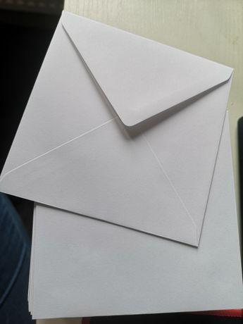 Koperty białe 14x14 69 sztuk