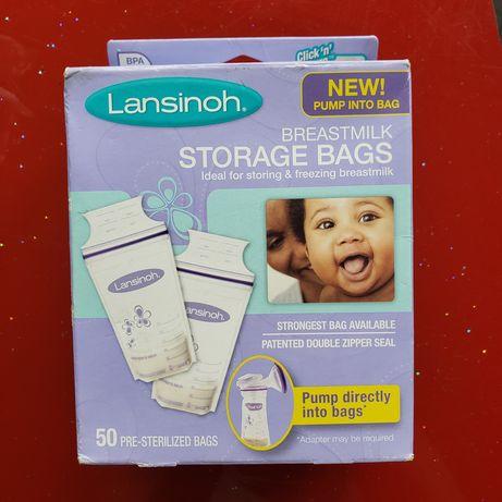 Пакеты для хранения и замораживания грудного молока Lansinoh 50 шт.