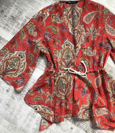 Блуза туника рубашка шелк Massimo Dutti Lauren Patrizia Pepe