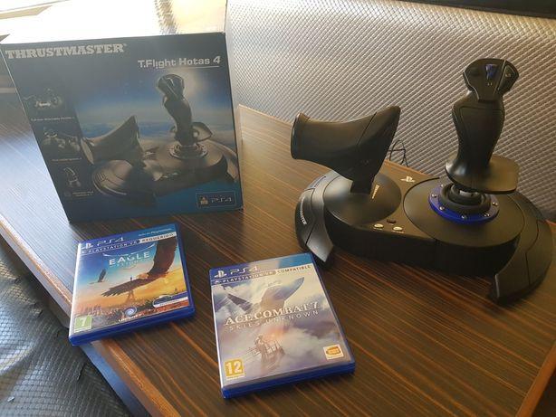 Joystick ThrustMaster t.Flight Hotas 4 ps + 2 jogos psvr