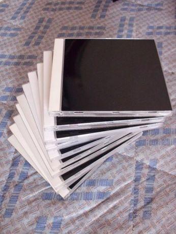 10 Caixas para CDs com Vinyl preto