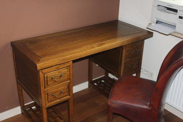 Biurko drewniane stylowe w bardzo dobrym stanie