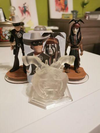 Disney Infinity Mascarilha Lone Ranger Tonto Playset Mundo Figuras
