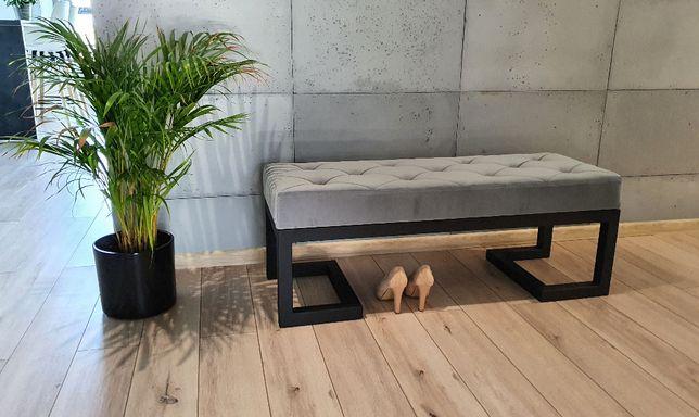 Ławka Loft 3 siedzisko tapicerowane do przedpokoju 110x40cm