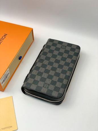 Мужской органайзер кошелек портмоне бумажник LV Louis Vuitton k351