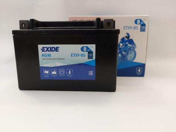 Akumulator motocyklowy Exide YTX9-BS 12V 8Ah 120A