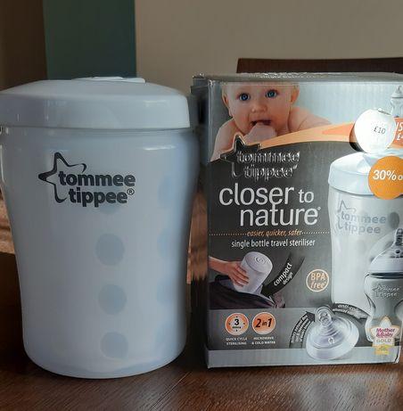 Nowy sterylizator  podróżny do butelek firmy Tommee Tippee+gratis