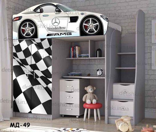 Кровать/кроватка чердак ліжко горище ліжечко дитяче детский шкаф комод