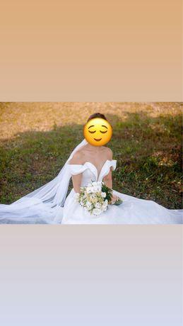 Свадебное платье глиттерное, вечернее платье