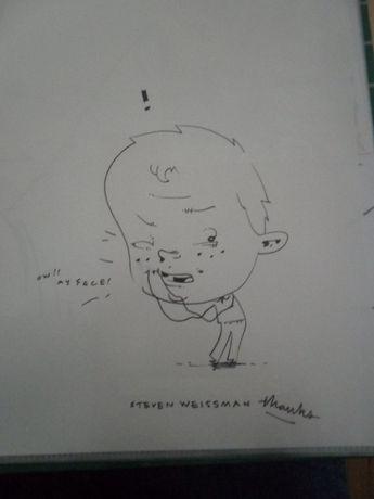 Desenho original de Steven Weissman [Salão Porto de BD] 1999