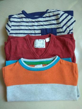 Sweter 12-18 mcy 3szt cena za calosc