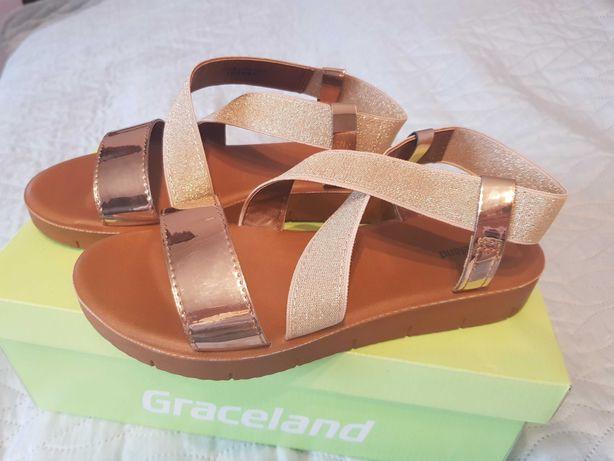 Nowe złote sandały