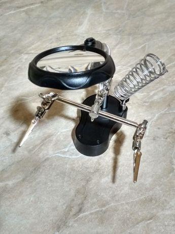 """Держатель """"третья рука"""" MG16126-A лупа, подставка для паяльника."""