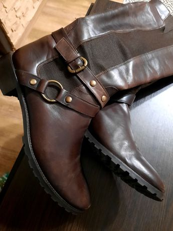 Коричневые кожаные винтажные сапоги 39 р. похожи на Chloe