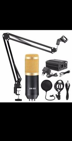 Microfone profissional bm-800 c/ kit completo