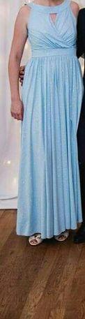 Sukienka maxi błękitna