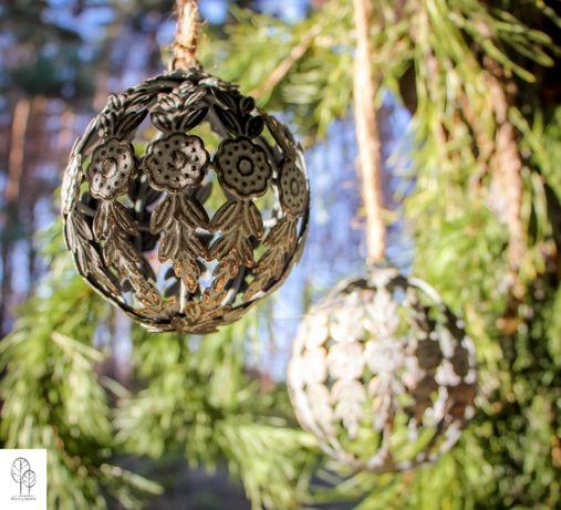 Bombka - efekt patyny - dekor świąteczny do domu i ogrodu