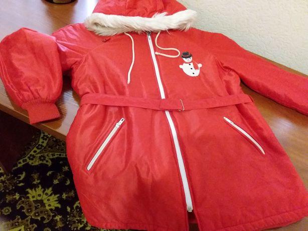 Куртка-пальто для девочки 7-10 лет.