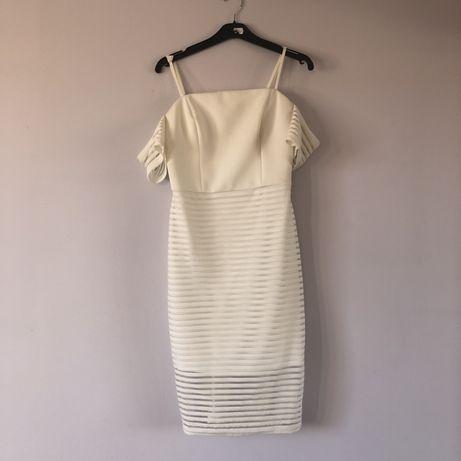 Biała sukienka Ariana Grande Lipsy London