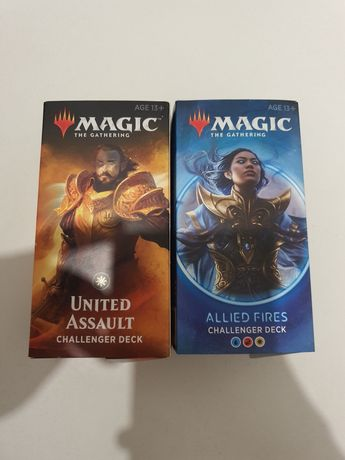 Magic the Gathering commande decki w protektorach