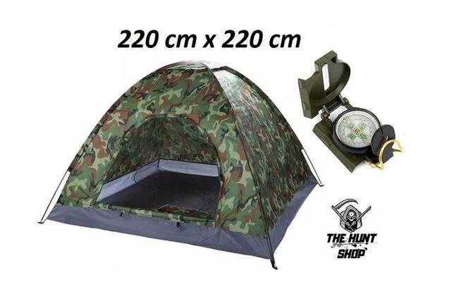 Namiot Turystyczny Wojskowy + MOSKITIERA 2.2x2.2m / 5-6 os. MORO