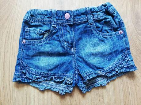 nr 90- Krótkie spodenki jeansowe r 104