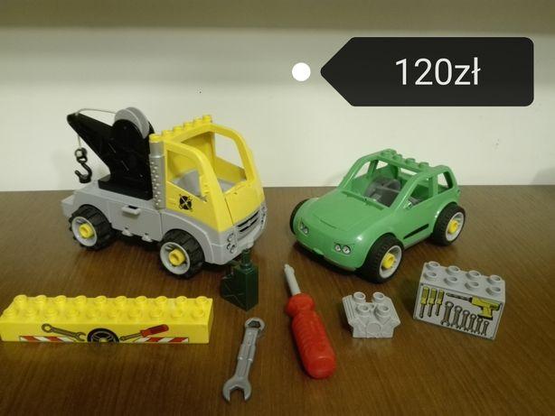 Lego Duplo     warsztat,traktor,tory