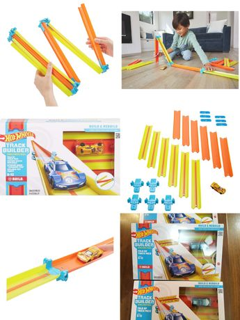 Hot Wheels Track Builder Fold Up Track Pack Assorted  Трек хот вилс