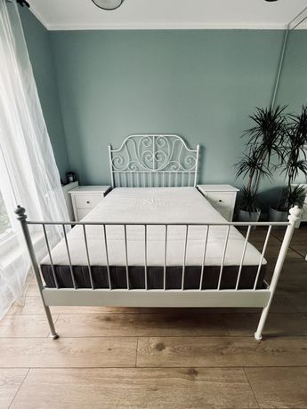 Łóżko Ikea Leirvik 140 cm komplet