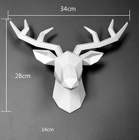 Głowa Jelenia 3D poroże dekoracja ścienna