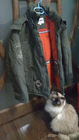 Куртка зимняя детская рост 152